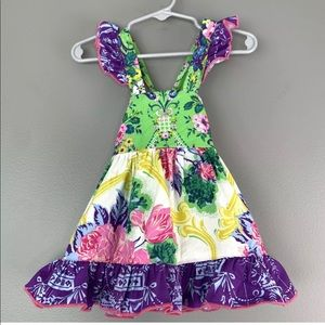 Olive Mae Baby Floral Sundress, 3 mos